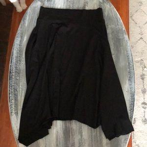 Large Athleta Black Knee Length/midi flowing skirt